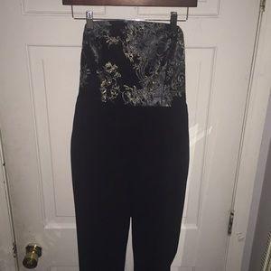 NEW BCBG Black and Lace Pants jumpsuit formal